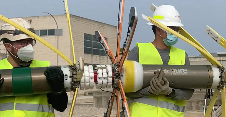 Evaluación estructural de las tuberías sin interrumpir el servicio de agua. El caso de Xylem en Tarragona
